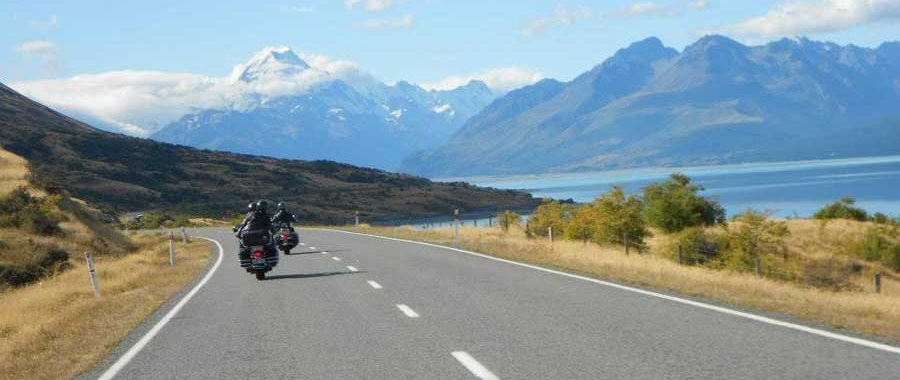 Riding to Mount Cook