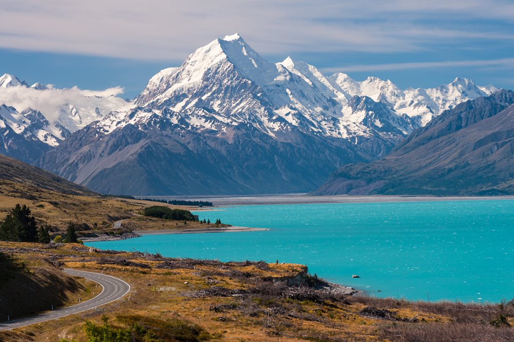Aoraki Mount Cook in New Zealand