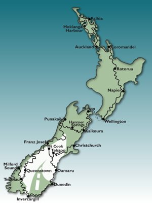 23 Day Twin Island GPS Tour Motorbike Tour Map