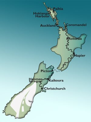 12 Day North Island GPS Tour Motorbike Tour Map